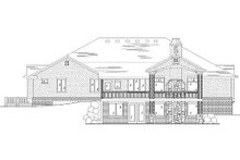 European Exterior - Rear Elevation Plan #5-369