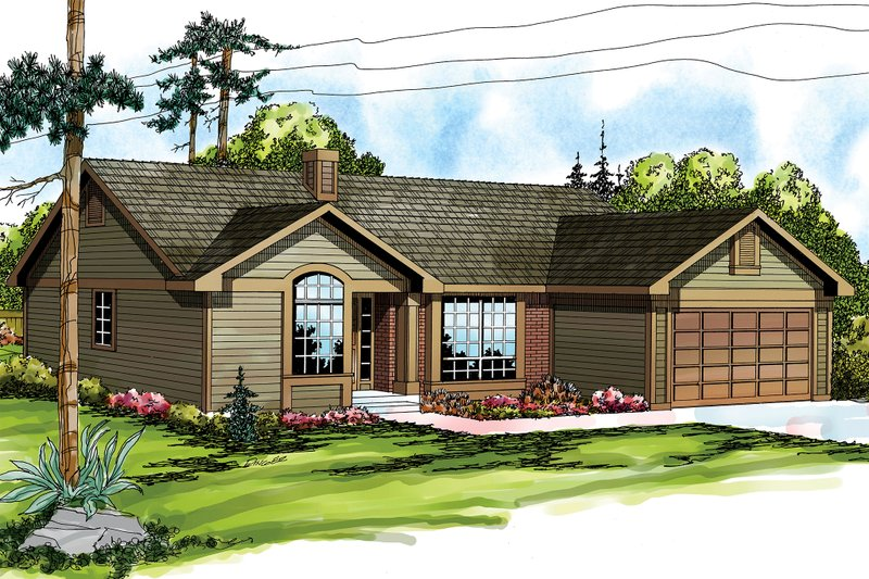 Traditional Exterior - Front Elevation Plan #124-139 - Houseplans.com