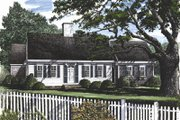 Colonial Style House Plan - 3 Beds 2.5 Baths 2076 Sq/Ft Plan #137-163 Exterior - Front Elevation