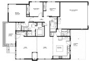 Modern Style House Plan - 3 Beds 2 Baths 1832 Sq/Ft Plan #895-84 Floor Plan - Main Floor Plan