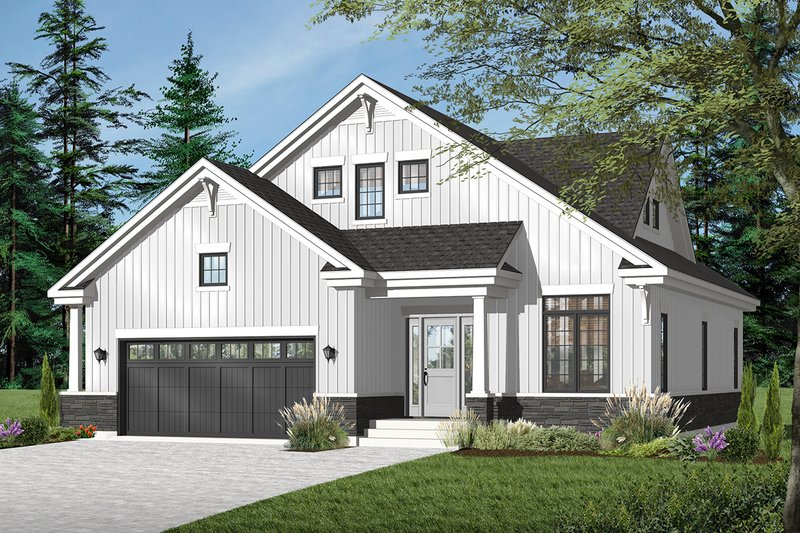 Architectural House Design - Country Exterior - Front Elevation Plan #23-2243