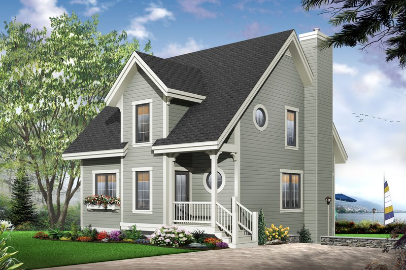 Traditional Exterior - Front Elevation Plan #23-663 - Houseplans.com