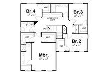 Country Floor Plan - Upper Floor Plan Plan #20-2149