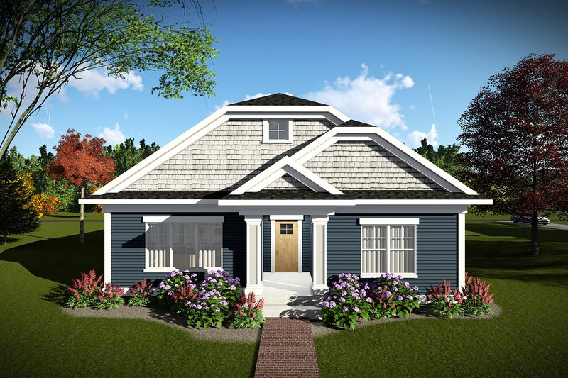 Cottage Exterior - Front Elevation Plan #70-1460