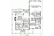 Country Floor Plan - Main Floor Plan Plan #137-199