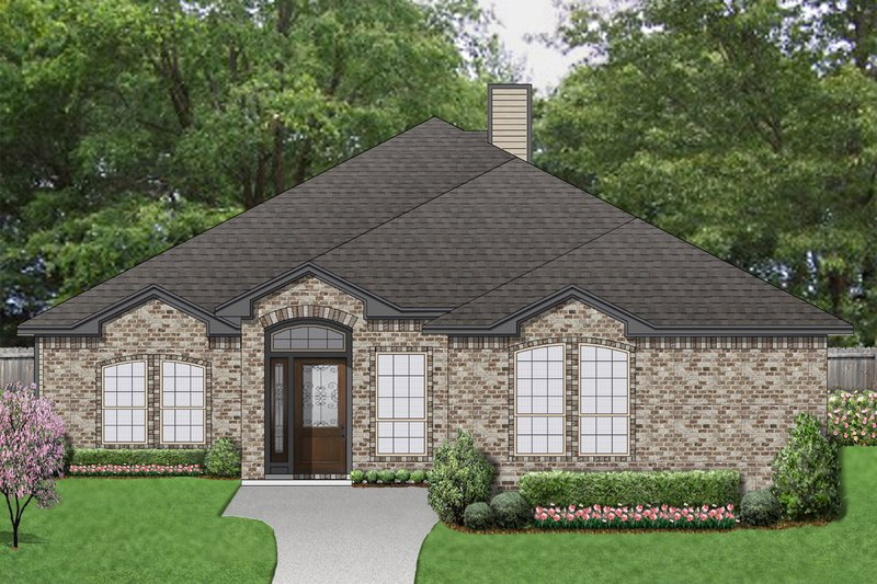 Traditional Exterior - Front Elevation Plan #84-614 - Houseplans.com