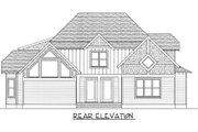 Craftsman Style House Plan - 4 Beds 3.5 Baths 3233 Sq/Ft Plan #413-847 Exterior - Rear Elevation