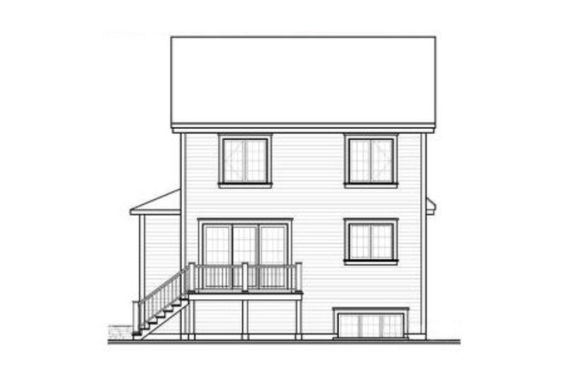 Country Exterior - Rear Elevation Plan #23-2183 - Houseplans.com