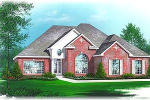 European Exterior - Front Elevation Plan #15-234
