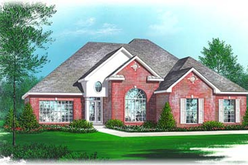 European Style House Plan - 3 Beds 2.5 Baths 1885 Sq/Ft Plan #15-234 Exterior - Front Elevation