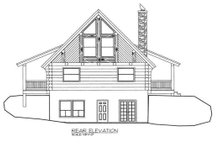 Log Exterior - Rear Elevation Plan #117-110