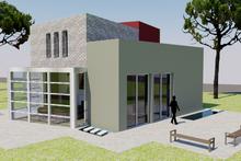 House Plan Design - Modern Exterior - Front Elevation Plan #542-3