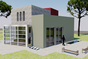 Modern Exterior - Front Elevation Plan #542-3