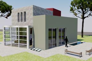 Modern Exterior - Front Elevation Plan #542-3