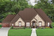 European Style House Plan - 3 Beds 2.5 Baths 2709 Sq/Ft Plan #84-616 Exterior - Front Elevation