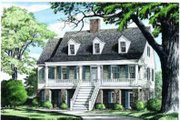 Southern Style House Plan - 4 Beds 3 Baths 2071 Sq/Ft Plan #137-110 Exterior - Other Elevation