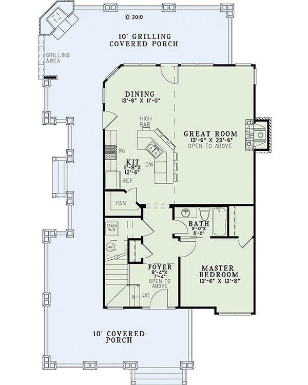 Country Floor Plan - Main Floor Plan Plan #17-2434