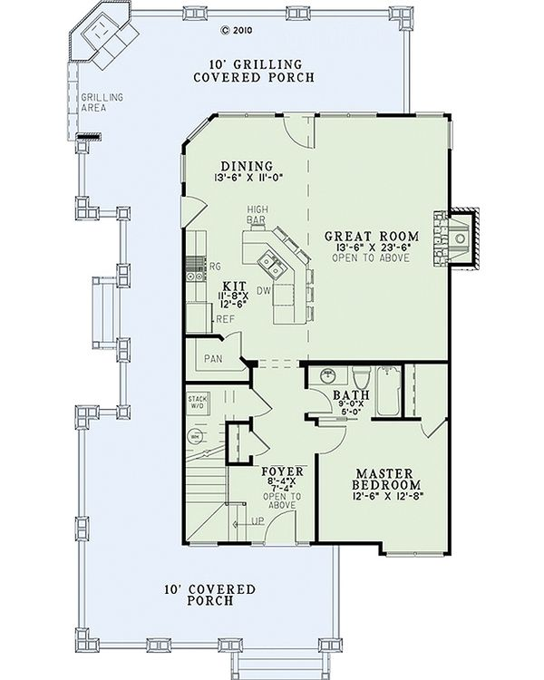 Country Floor Plan - Main Floor Plan #17-2434