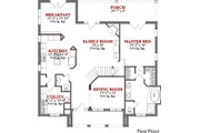 Mediterranean Style House Plan - 4 Beds 3.5 Baths 3308 Sq/Ft Plan #63-308 Floor Plan - Main Floor Plan
