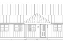 House Design - Cabin Exterior - Front Elevation Plan #932-123