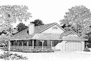 Ranch Style House Plan - 3 Beds 2 Baths 1646 Sq/Ft Plan #72-335 Exterior - Other Elevation