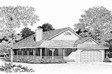 House Blueprint - Ranch Exterior - Other Elevation Plan #72-335