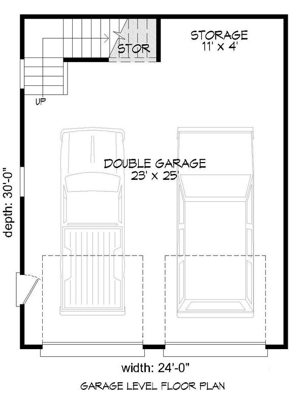 Contemporary Floor Plan - Main Floor Plan #932-100