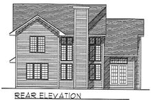 Traditional Exterior - Rear Elevation Plan #70-198