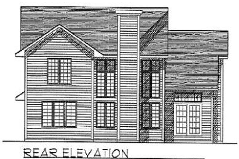 Traditional Exterior - Rear Elevation Plan #70-198 - Houseplans.com