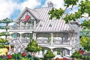 Victorian Style House Plan - 3 Beds 3.5 Baths 2659 Sq/Ft Plan #930-64 Exterior - Rear Elevation