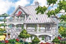 Victorian Exterior - Rear Elevation Plan #930-64