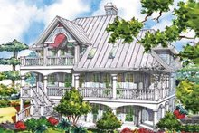 Home Plan - Victorian Exterior - Rear Elevation Plan #930-64