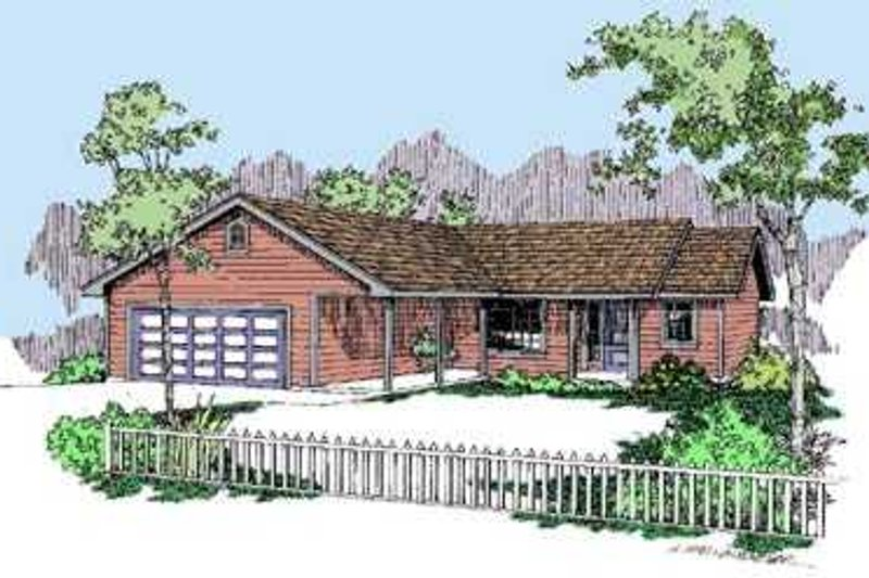 Ranch Exterior - Front Elevation Plan #60-495