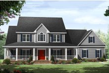 Home Plan - Country Exterior - Front Elevation Plan #21-323