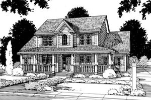 Country Exterior - Front Elevation Plan #20-235
