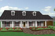 Southern Style House Plan - 3 Beds 2 Baths 2091 Sq/Ft Plan #44-144 Exterior - Front Elevation