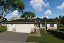 Modern Exterior - Front Elevation Plan #70-1417