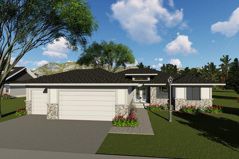 Modern Exterior - Front Elevation Plan #70-1417