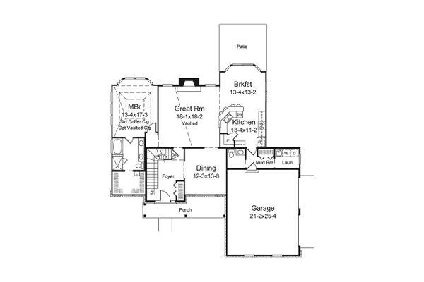Traditional Floor Plan - Main Floor Plan Plan #57-655