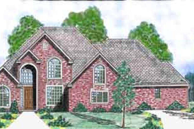 Home Plan - European Exterior - Front Elevation Plan #52-195