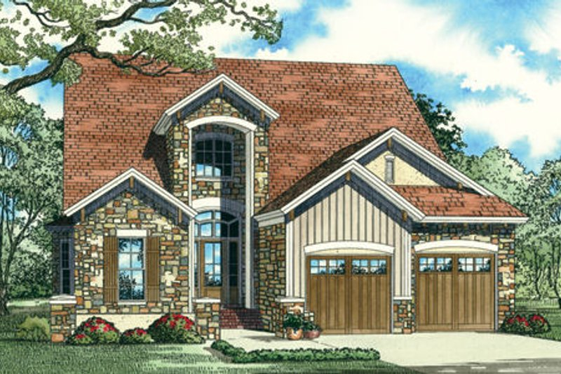 Dream House Plan - European Exterior - Front Elevation Plan #17-2300