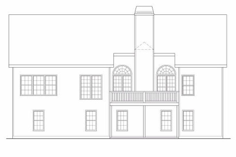 Traditional Exterior - Rear Elevation Plan #419-145 - Houseplans.com