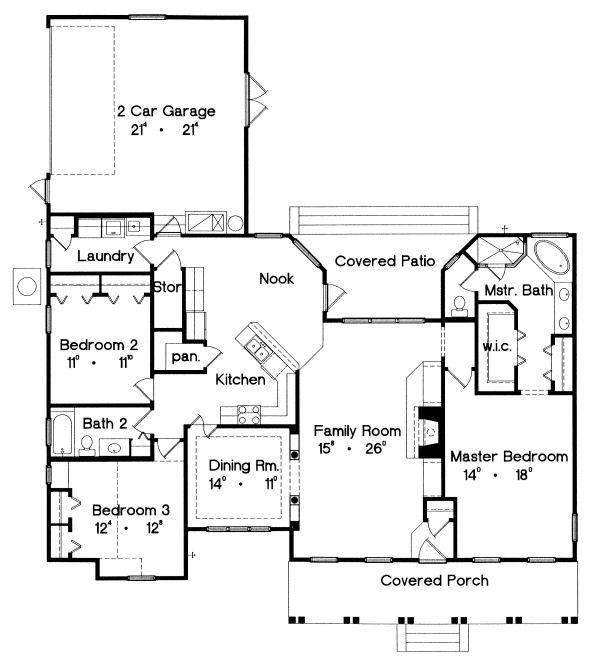 Country Floor Plan - Main Floor Plan #417-174
