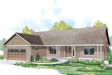 House Design - Ranch Exterior - Front Elevation Plan #124-862