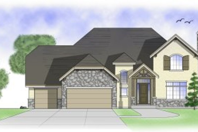 Country Exterior - Front Elevation Plan #5-189