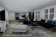 Ranch Style House Plan - 3 Beds 2 Baths 1493 Sq/Ft Plan #1060-39 Interior - Family Room