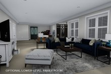 Architectural House Design - Future Finished Basement Family Room