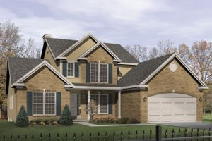 Architectural House Design - Traditional Exterior - Front Elevation Plan #22-423