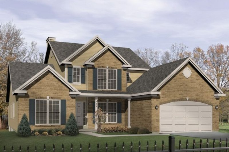 Dream House Plan - Traditional Exterior - Front Elevation Plan #22-423