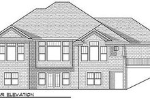 Architectural House Design - Craftsman Exterior - Rear Elevation Plan #70-919